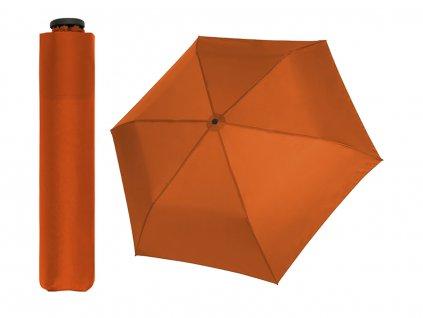 Doppler Zero 99 oranžový ultralehký skládací mini deštník do kabelky