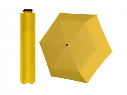 Doppler Zero 99 žlutý ultralehký skládací mini deštník do kabelky