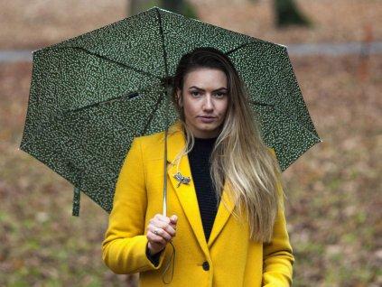 Deštník Cachemir Liberty zelený s modelkou