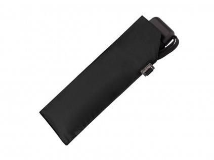 Doppler Carbonsteel SLIM UNI černý odlehčený skládací plochý deštník pro muže i ženy