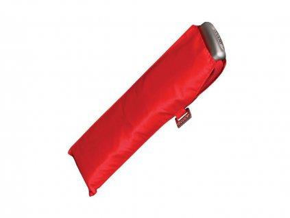 Doppler Carbonsteel SLIM UNI červený odlehčený skládací plochý deštník unisex