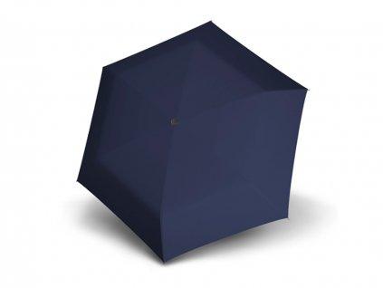 Doppler Carbonsteel SLIM UNI modrý odlehčený skládací plochý deštník
