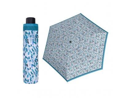 Doppler Havanna Sprinkle modrý ultralehký skládací deštník s UV ochranou