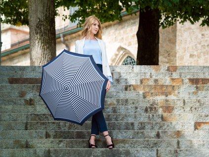 Doppler Magic Carbonsteel Delight plně automatický deštník modrý s dívkou