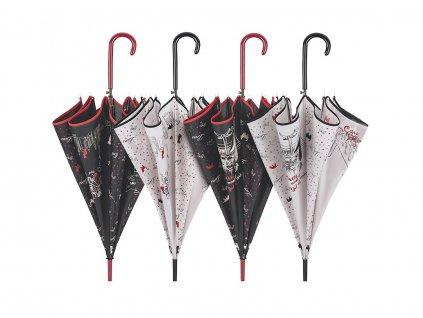 Deštník Cachemir Cats & Dogs černý pejsek