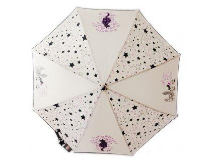 Deštník Cachemir Cats dámský holový deštník s kočkou a Londýnem