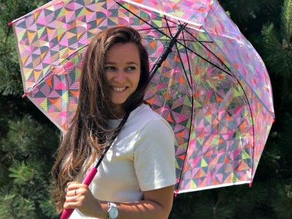 Průhledný deštník Esprit triangl