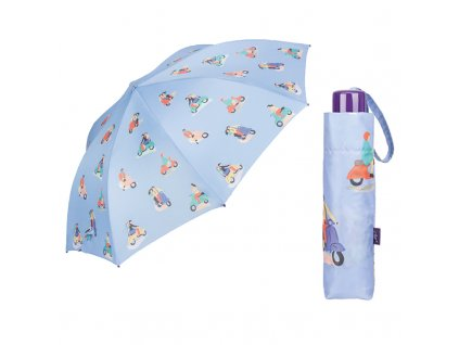 Cachemir Pictures skládací deštník s potiskem dívky a chlapce na skútru