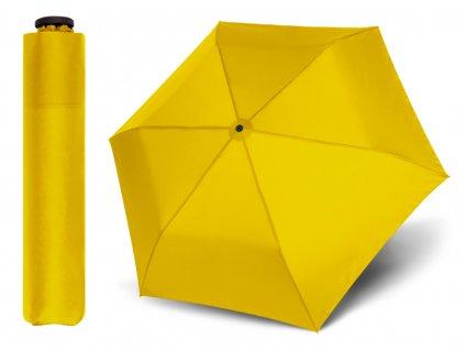 Doppler Zero Sun žlutý odlehčený deštník s UV ochranou