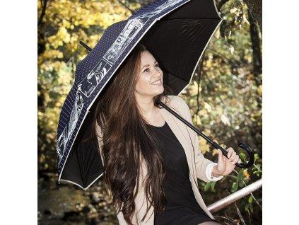 RSQ1912 Pop Art luxusní dámský holový deštník