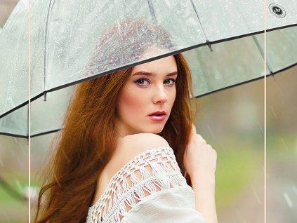 Cachemir Transparente Black & White průhledný holový deštník
