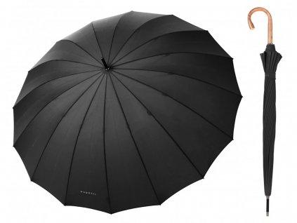 Luxusní pánský holový deštník Bugatti Doorman černý