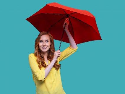 Doppler Zero99 červený ultralehký skládací mini deštník
