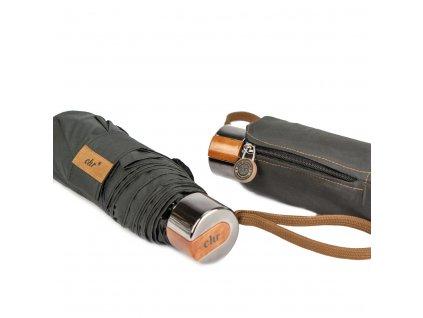 Cachemir Pocket černý pánský skládací mini deštník
