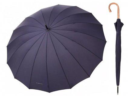 Luxusní pánský holový deštník Bugatti Doorman tmavě modrý