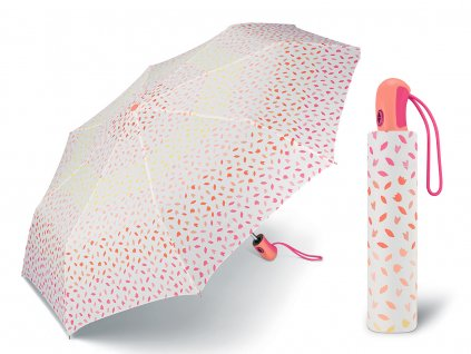 53217 ESPRIT Ditsy Floral pink plně automatický skládací deštník