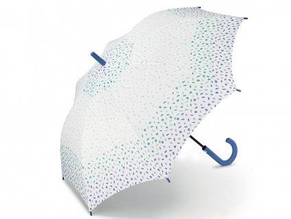 ESPRIT Ditsy Florals denim dámský holový deštník s barevnými lístečky