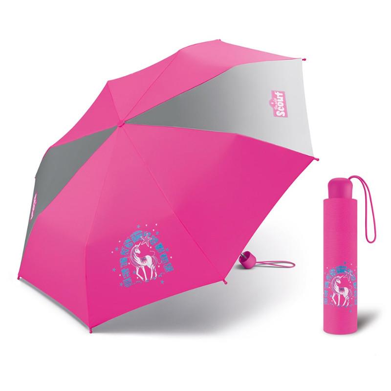 Scout LILAC UNICORN dětský skládací deštník s jednorožcem Barva: Růžová