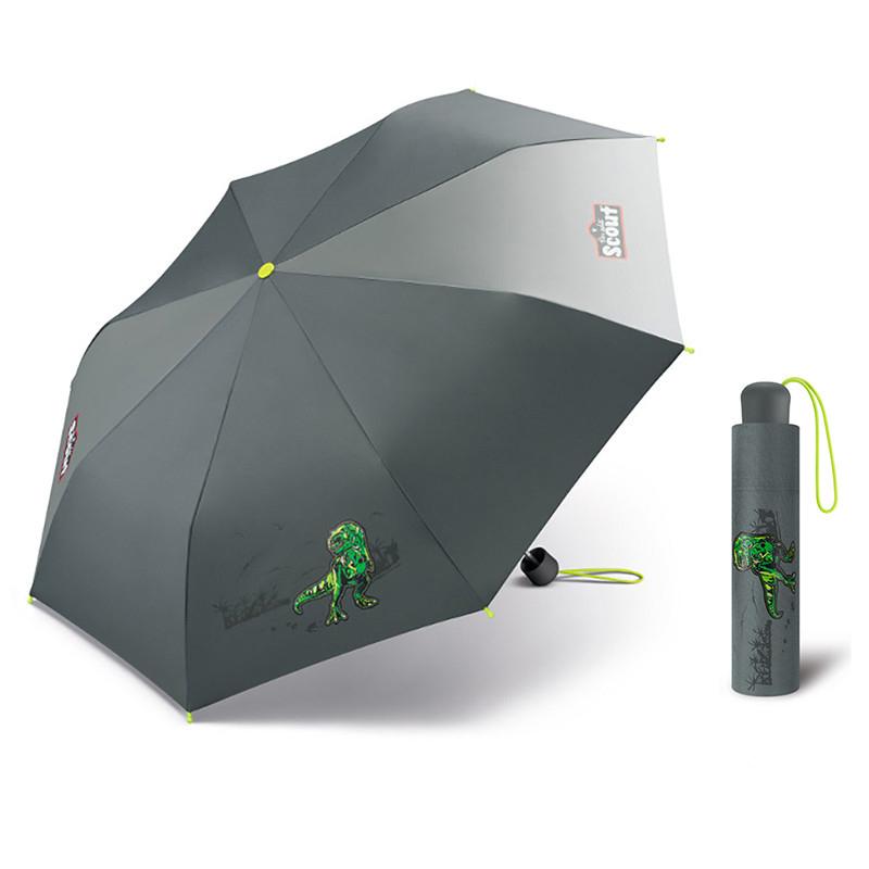 Scout T-Rex dětský skládací deštník s tyranosaurem Barva: Šedá