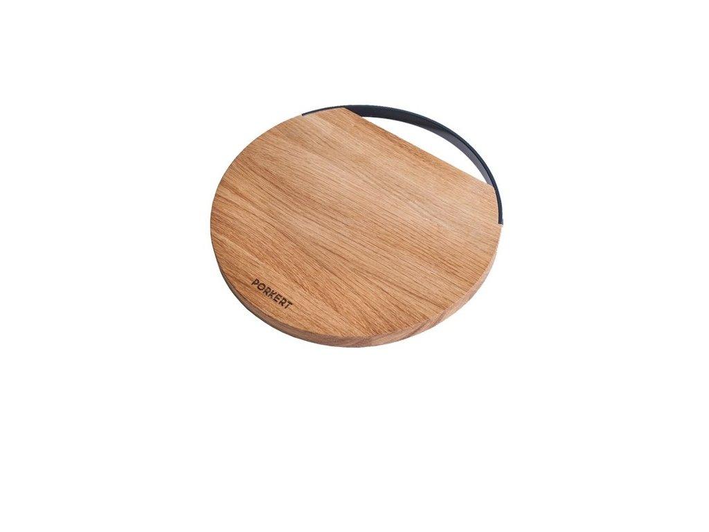 Dřevěné kuchyňské prkénko PORKERT MITIS - krájecí, kulaté, 27 x 1,5 cm