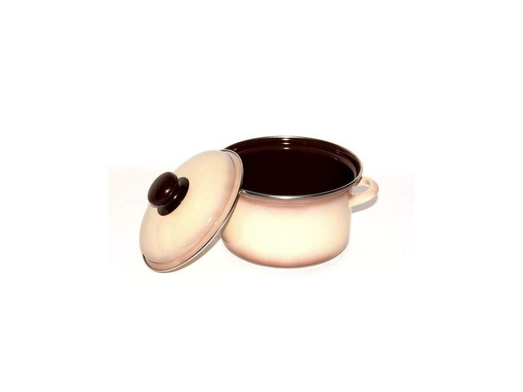 Belis/Sfinx Smaltovaný hrnec Capuccino, průměr 24 cm, objem 6,1 litrů