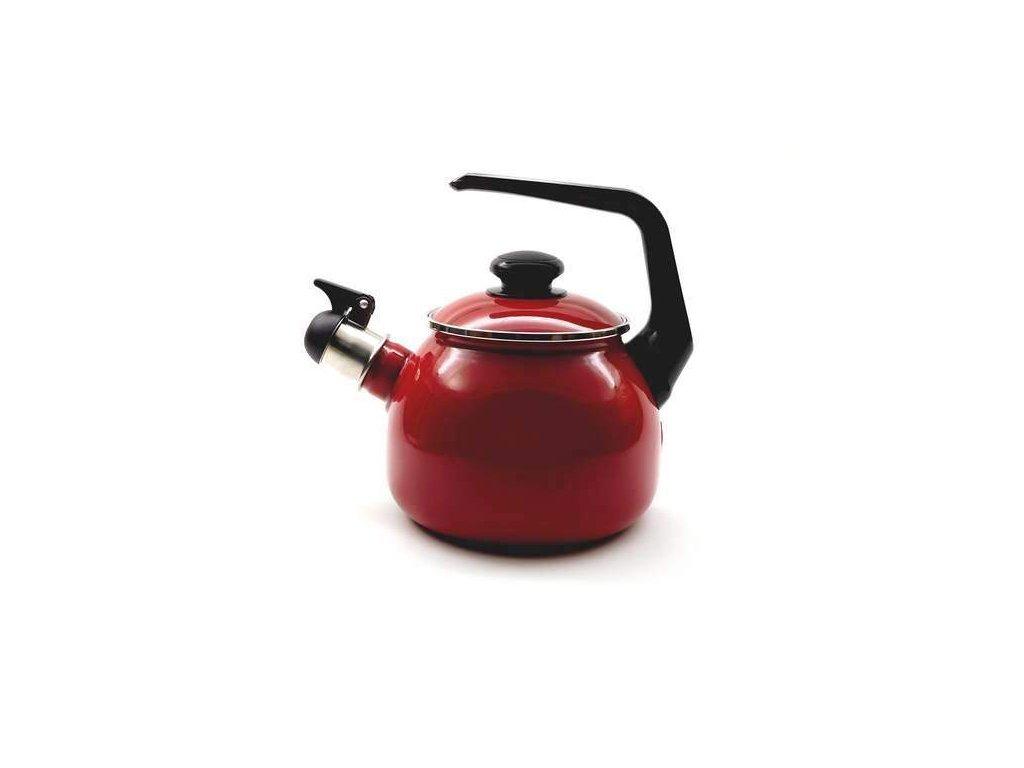 Smaltovaný čajník Belis/Sfinx, bordo, 2,5 l
