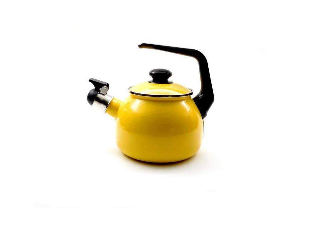 Smaltovaný čajník Belis/Sfinx, žlutý, 2,5 l