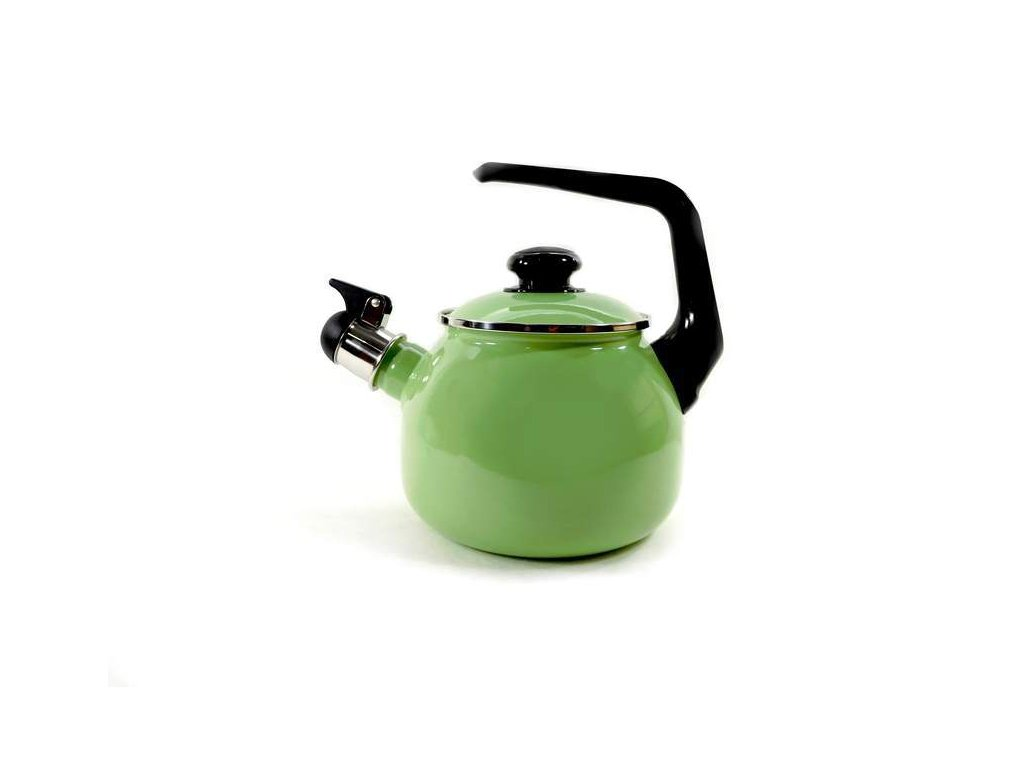 Smaltovaný čajník Belis/Sfinx, zelený, 2,5 l