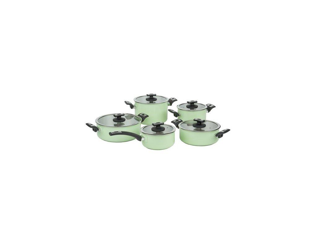 Sada nádobí KOLIMAX COMFORT GREEN 10 ks
