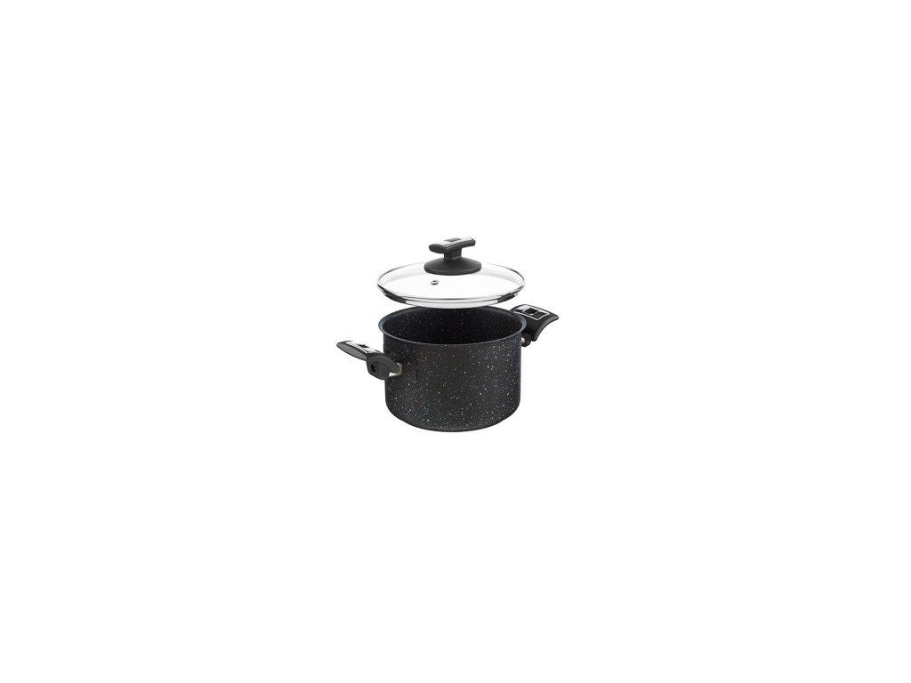 KOLIMAX BLACK GRANITEC hrnec s poklicí 18cm 3,0l