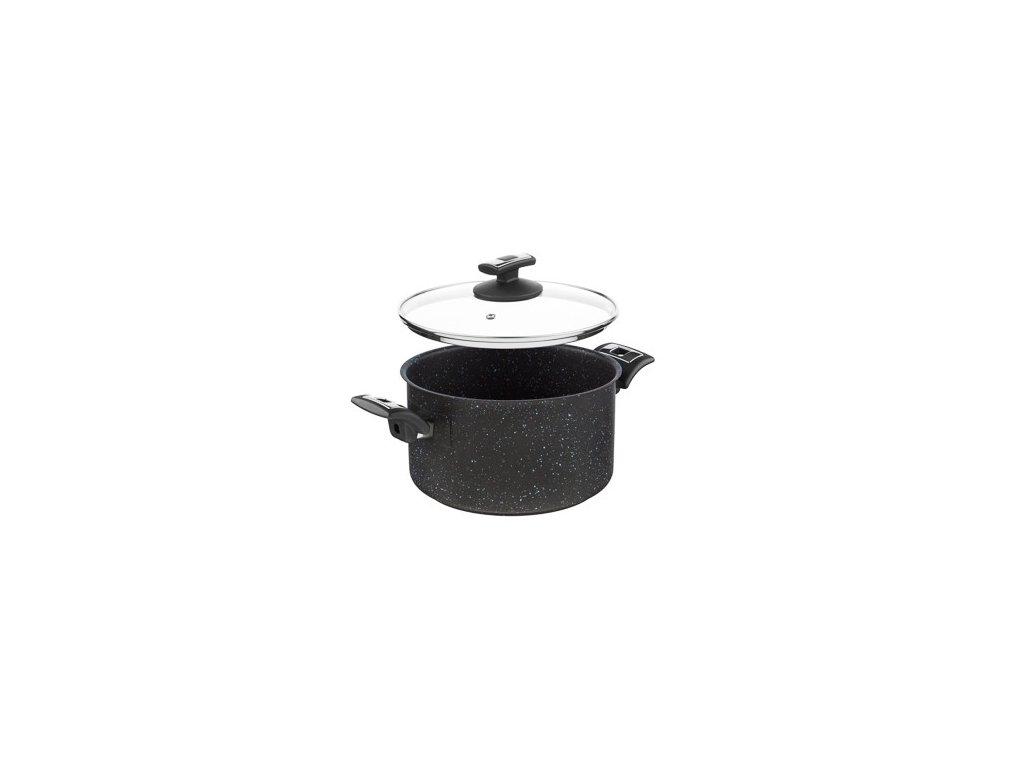 KOLIMAX BLACK GRANITEC hrnec s poklicí 22cm 4,5l