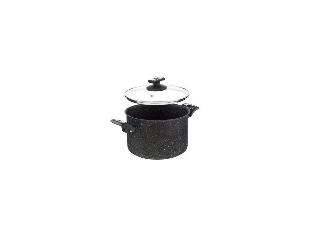 KOLIMAX BLACK GRANITEC hrnec s poklicí 22cm 5,5l