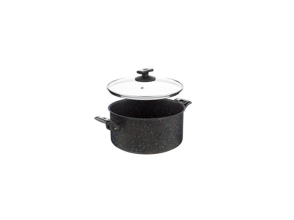 KOLIMAX BLACK GRANITEC hrnec s poklicí 26cm 6,5l