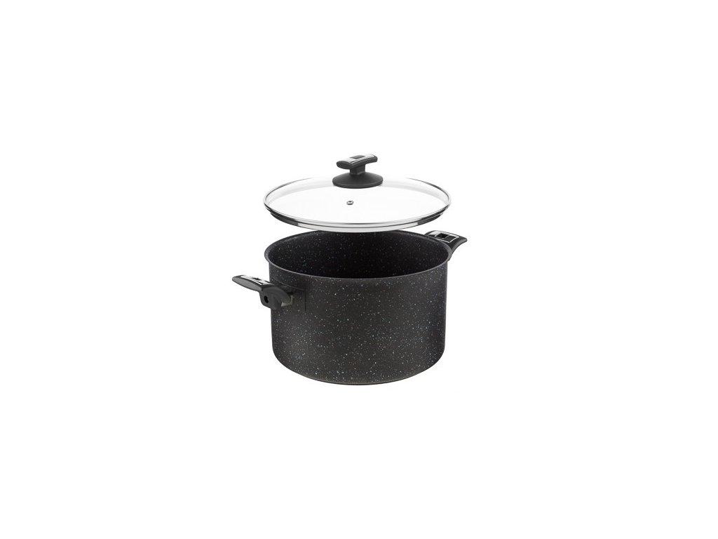 KOLIMAX BLACK GRANITEC hrnec s poklicí 26cm 8,0l