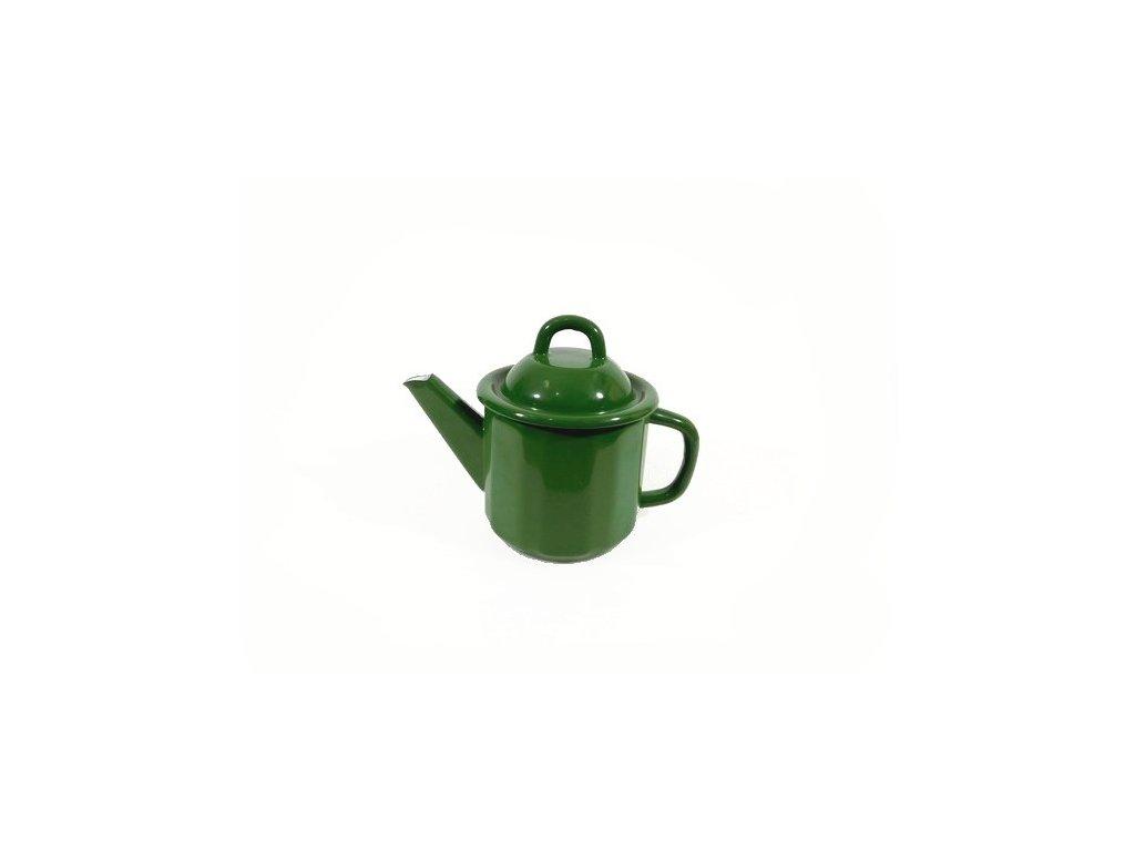 smaltovana konvice 1l tmave zelena dovoz belissfinx 202001071352511300656815