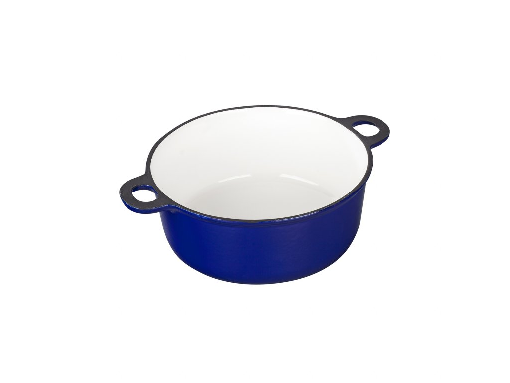 Litinový smaltovaný Hrnec velký Český smalt GOURMETINA - Noční modrá 25 x 9 cm, 3 l