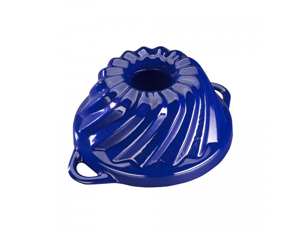 Litinová smaltovaná pečicí forma Malá bábovka Český smalt GOURMETINA - Noční modrá 20,3 x 9,5 cm