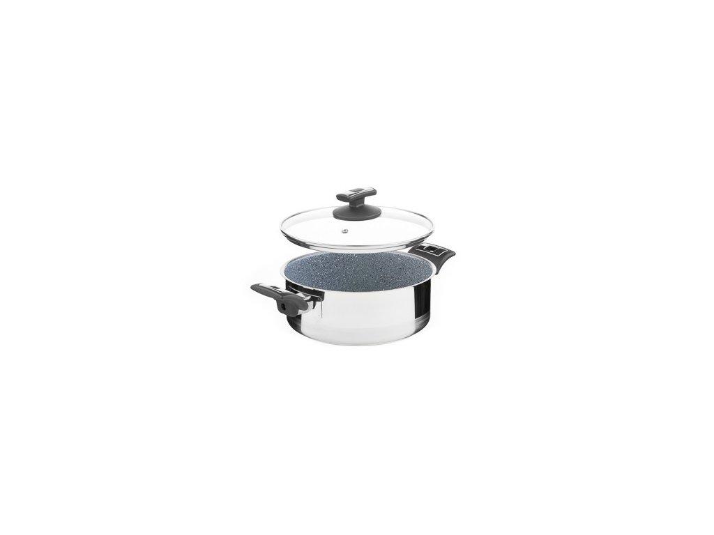 Rendlík s poklicí KOLIMAX CERAMMAX PRO COMFORT - granit šedý, 22 cm, 3,0 l