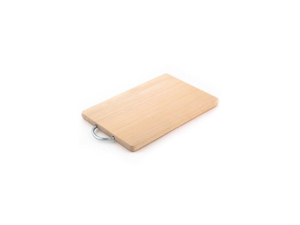 Dřevěné kuchyňské prkénko KOLIMAX - hranaté s kovovým držadlem, 29 x 18 x 1,6 cm