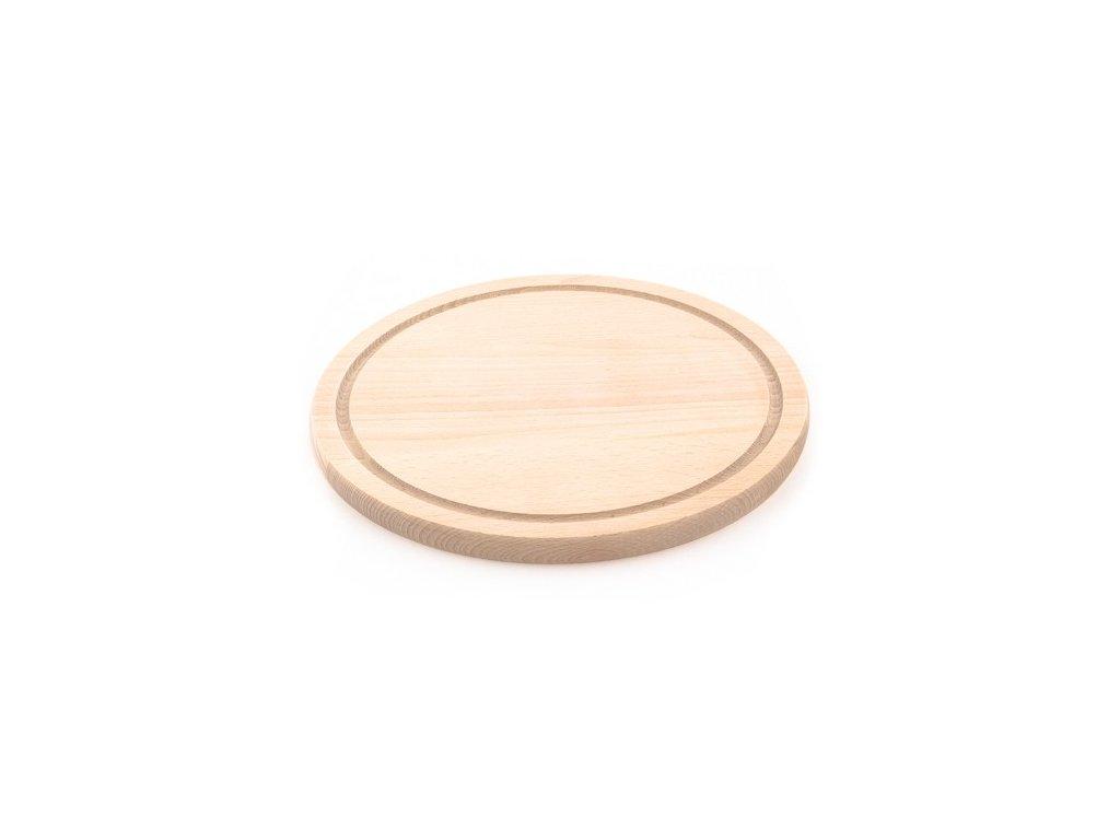 Dřevěné kuchyňské prkénko KOLIMAX - kulaté, 25 x 1,6 cm