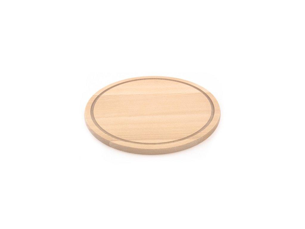 Dřevěné kuchyňské prkénko KOLIMAX - kulaté, 30 x 1,6 cm