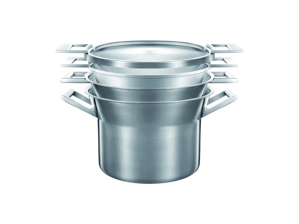 Sada nerezového nádobí s hliníkovým jádrem CASTEY ARTIC, indukční, průměr 28 cm, 4 ks