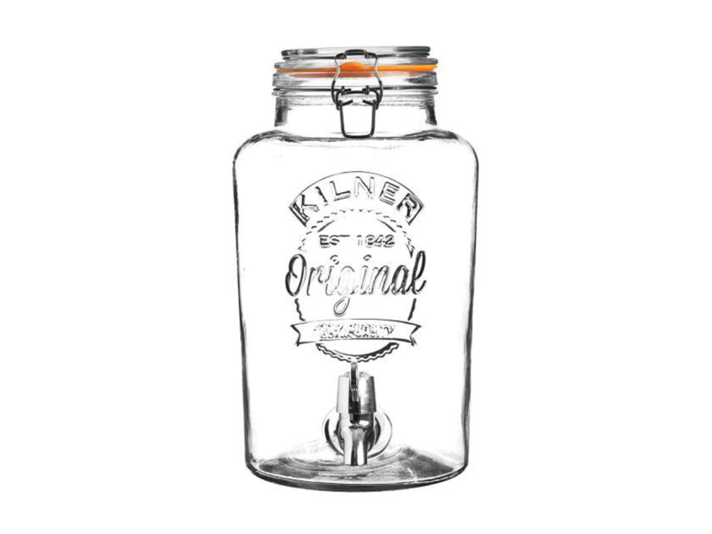 KILNER skleněný nápojový automat s kohoutkem 8,0 l