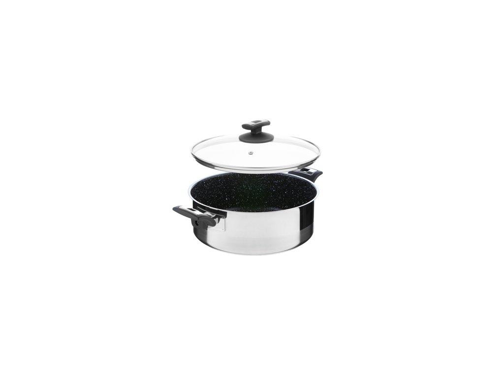 Rendlík s poklicí KOLIMAX CERAMMAX PRO COMFORT - granit černý, 26 cm, 4,5 l
