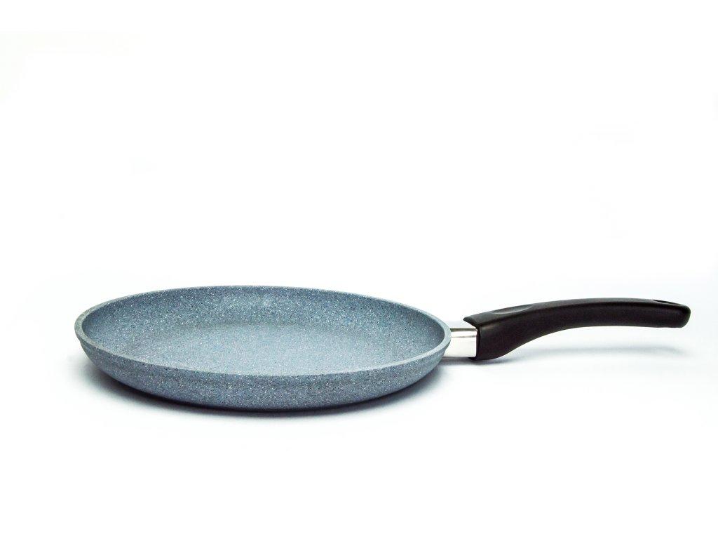 Palačinková pánev PROTITAN linie Granit, šedá, neindukční, 24 x 3 cm