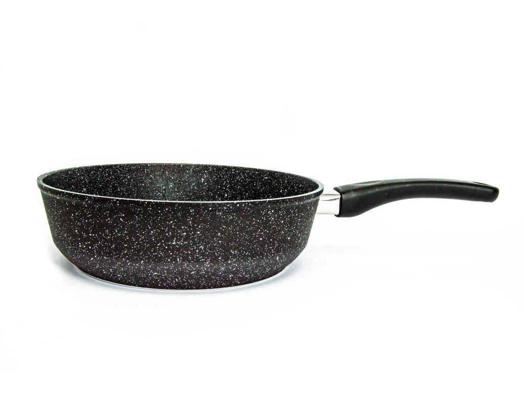 Pánev vysoká PROTITAN linie Granit, černá, neindukční, 26 x 7 cm