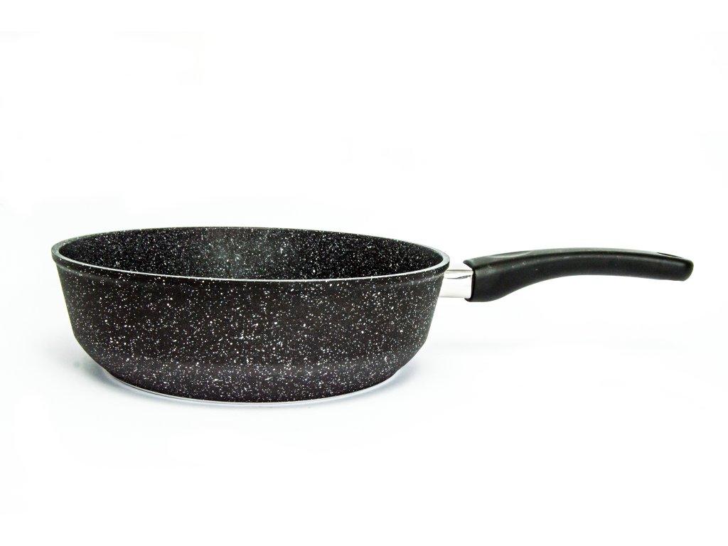 Pánev vysoká bez poklice PROTITAN linie GRANIT- černá, neindukční, průměr 24 cm, výška 7 cm