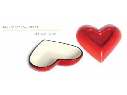 Smaltovaná litinová forma ve tvaru srdce Belis/Sfinx Queen Line, 15 cm, objem 0,13 l