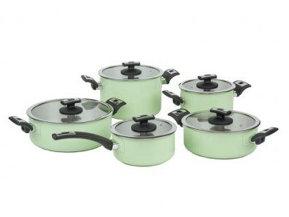 KOLIMAX COMFORT GREEN sada nádobí 10 dílů