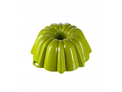 Litinová smaltovaná pečicí forma Velká bábovka Český smalt GOURMETINA - Trávníkově zelená 27 cm x 11 cm